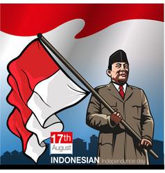 Hari ulang tahun indonesia merdeka vector