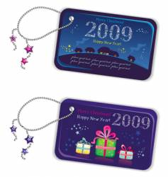 New year tags 2009 vector