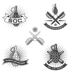 Spesial force emblems vector