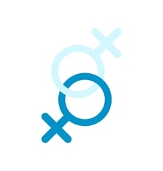 Sign of two women flat icon vector