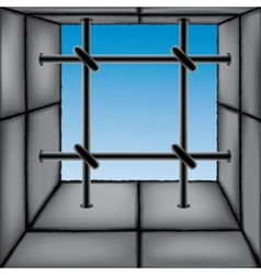 Barred window vector