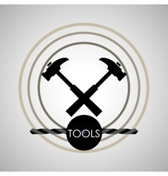 Tool design circle icon flat vector