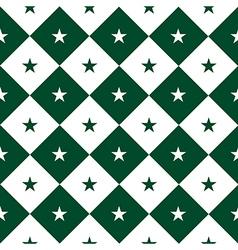Star Green White Chess Board Diamond Background vector image