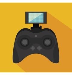 Remote control drone isolated icon design vector