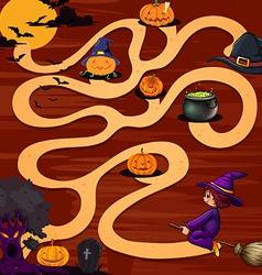 A halloween maze game vector image vector image