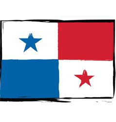 Abstract panama flag or banner vector