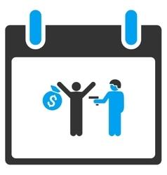 Arrest calendar day toolbar icon vector