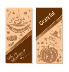 Autumn background with thanksgiving day symbol vector
