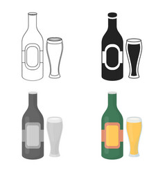 beer icon in cartoon style isolated on white vector image