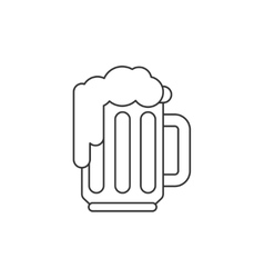 Beer thin line icon vector image vector image