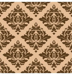 Beige and brown arabesque motifs vector