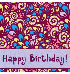 Birthday card2 vector