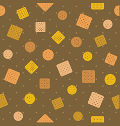 biscuitcraker and polka dot seamless pattern back vector image
