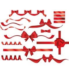 bows ribbons vector image vector image