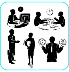 Businessman and businesswoman set vector image