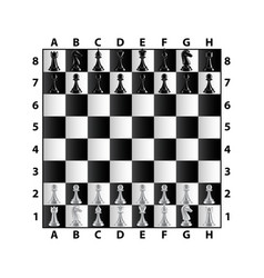 Chess board top view isolated on white vector