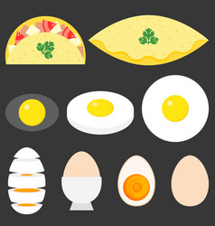 collection of eggs vector image