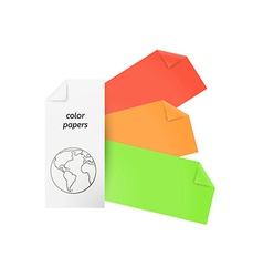 color papers vector image vector image