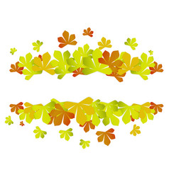 colorful autumn leaves autumn sale frame vector image vector image