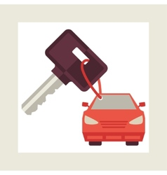 concept of auto loan in flat design style vector image vector image