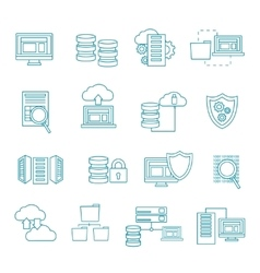 Datacenter Icon Set vector image vector image