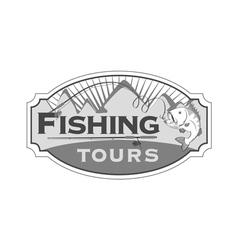 Fishing tours emblem vector image vector image