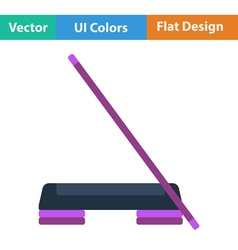 Flat design icon of step board and stick vector
