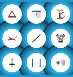 Flat icon service set of pipeline accumulator vector