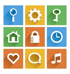 Flat icon vector image vector image