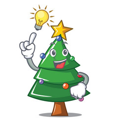 Have an idea christmas tree character cartoon vector