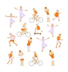 Healthy active lifestyle retiree vector