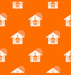 House pattern seamless vector