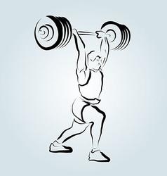 Ink sketch weightlifter vector