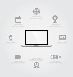 Laptop Information vector image vector image