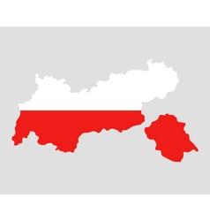 Map and flag of tyrol vector