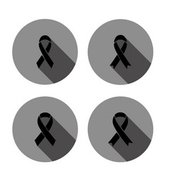 Mourning sign icon with long shadow vector