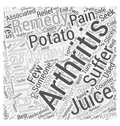 Natural remedies for arthritis word cloud concept vector