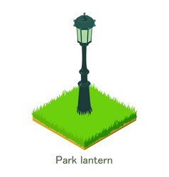 park lantern icon isometric style vector image