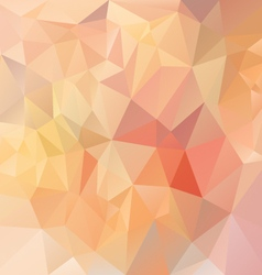 Pastel pink orange triangular pattern background vector