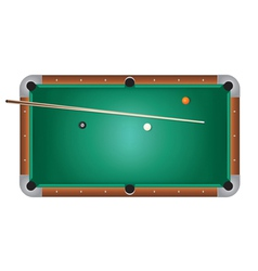 Pool table billiards vector