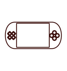 portable console videogame vector image vector image