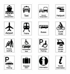 public signs vector image