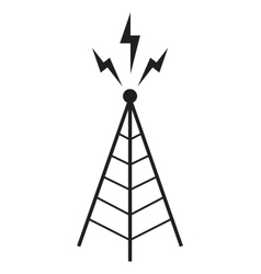 Radio tower antenna communication mast vector