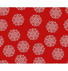 Seamless white christmas snowflakes vector