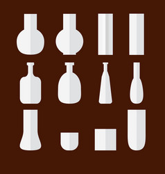 set of flat vases vector image vector image