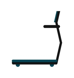 single treadmill icon vector image
