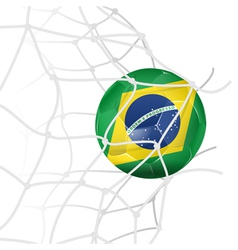 Soccer Ball in Net vector image vector image