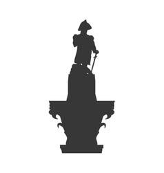 Statue icon united kingdom design graphic vector