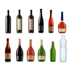 super set of bottles vector image vector image
