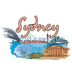 sydney doodles vector image